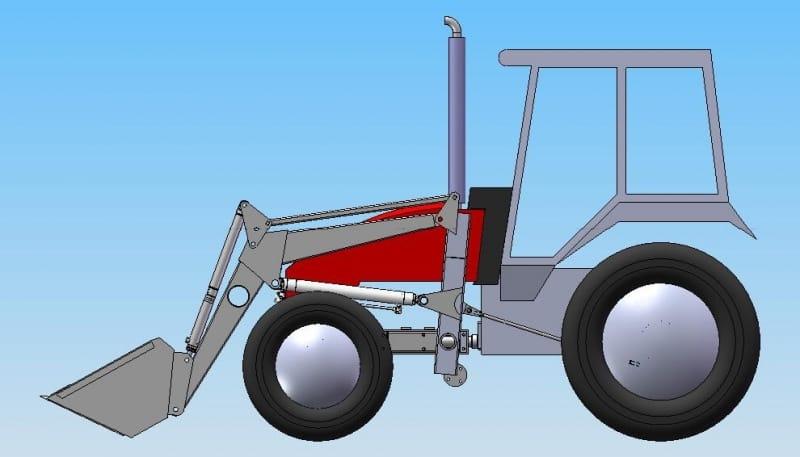 Погрузчик фронтальный ПВ-300 на трактор ВТЗ-2048