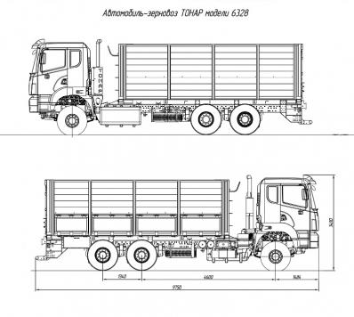 Автомобиль-зерновоз Тонар-6328